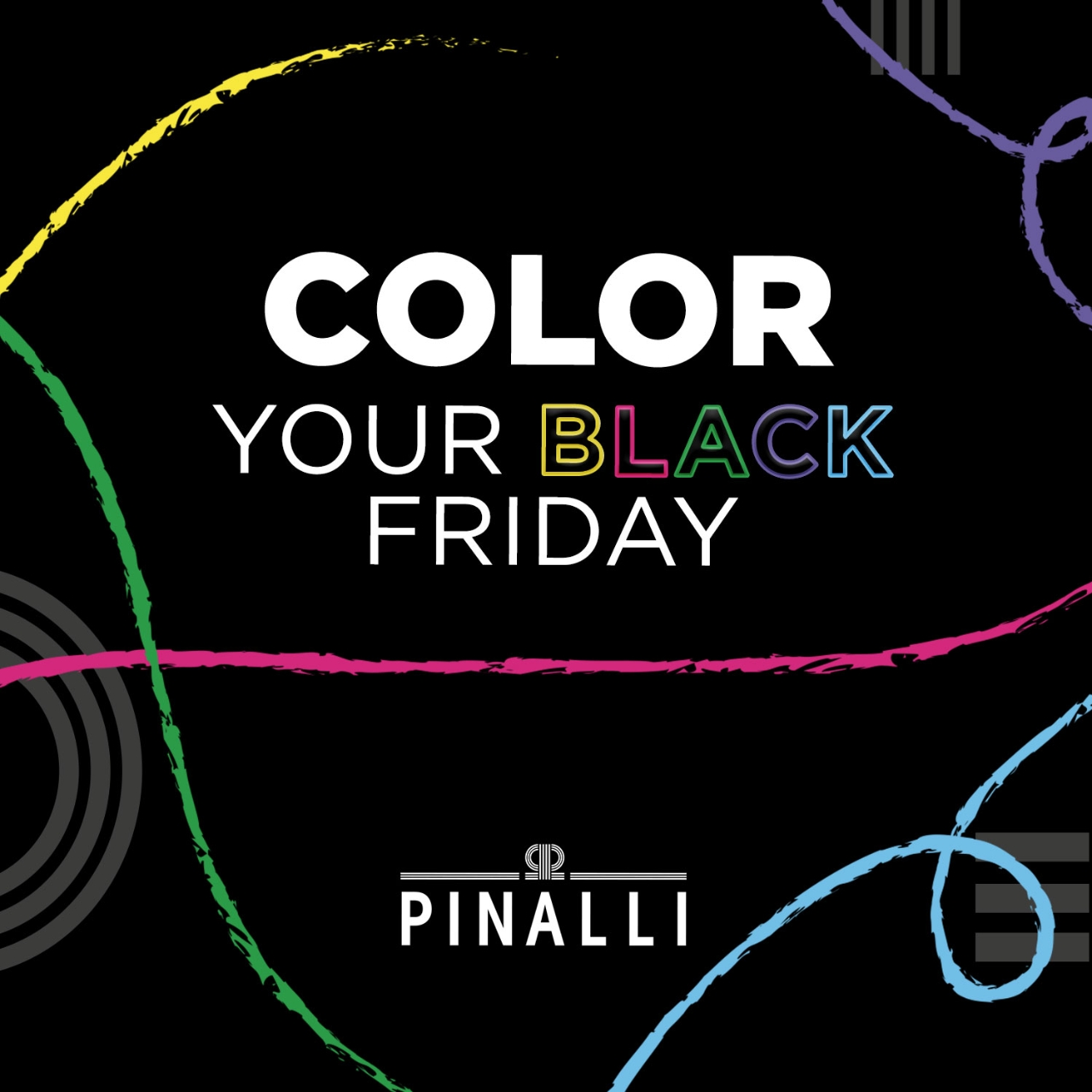 Pinalli Colour is the new black campaign